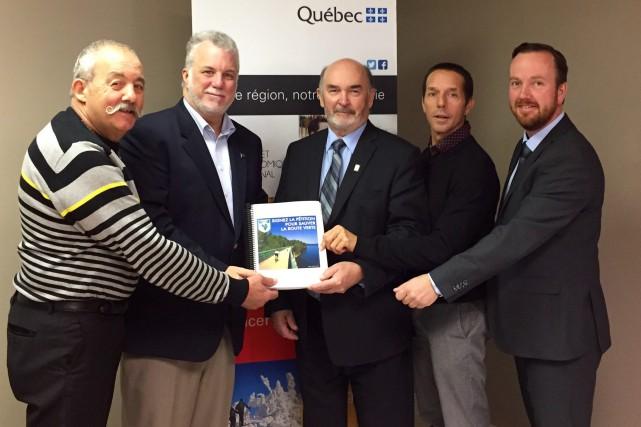 Michel de Champlain, président de la Véloroute des... (Photo courtoisie)