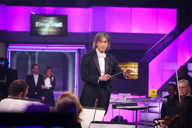 Kent Nagano et l'OSM étaient au Banquier, dimanche.... (PHOTO FOURNIE PAR TVA)