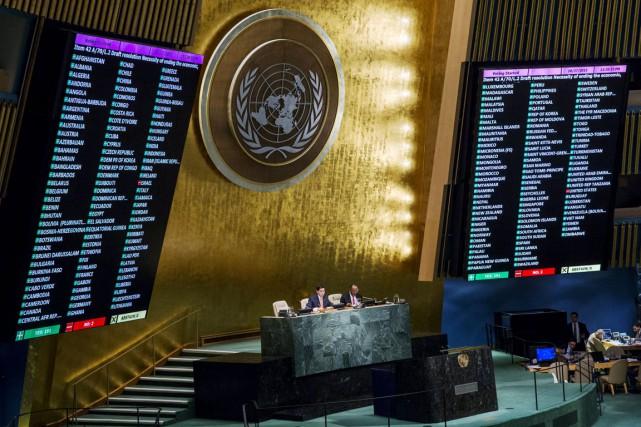Les États-Unis et Israël ont voté contre cette... (PHOTO LUCAS JACKSON, REUTERS)