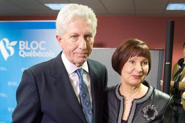 Gilles Duceppe et sa femme Yolande Brunelle lors... (La Presse Canadienne, Ryan Remiorz)
