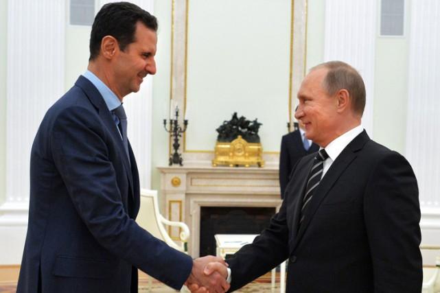 Le président syrien Bachar al-Assad a rencontré son... (PHOTO AFP)