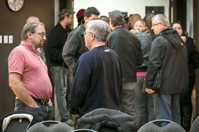Quarante-cinq employés étaient présents à la rencontre d'information.... (Imacom, Jocelyn Riendeau)