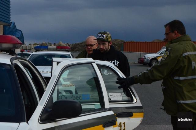 Guillaume Lajoie a été arrêté mardi à Alma.... (Photo Le Quotidien, Laura Lévesque)