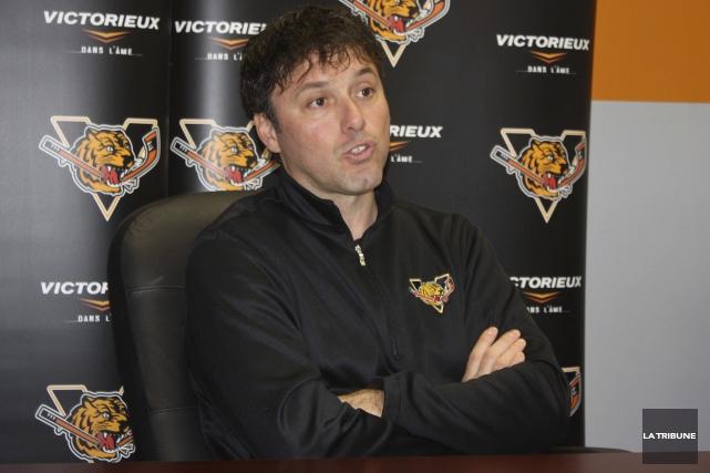 Le directeur général des Tigres de Victoriaville Daniel... (La Tribune, Yanick Poisson)