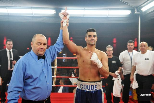 Le boxeur Guillaume Coudé livrera son huitième combat... (Archives Le Quotidien, Rocket Lavoie)