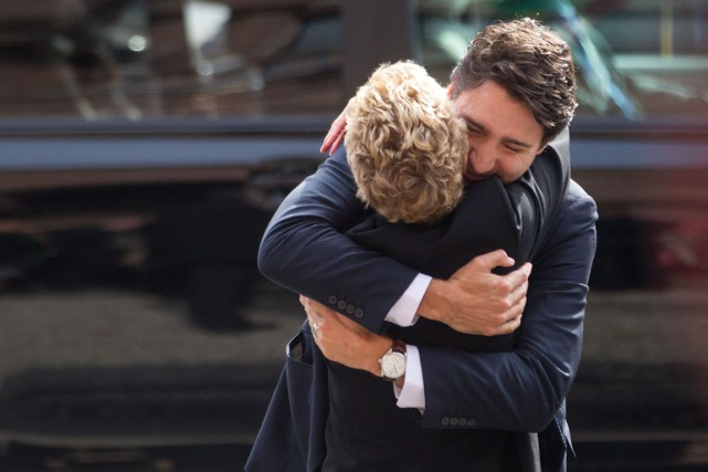 Kathleen Wynne et Justin Trudeau étaient visiblement heureux...