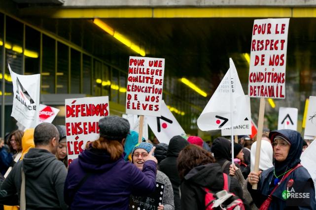 Le front commun des syndicats du secteur public... (PHOTO FRANÇOIS ROY, ARCHIVES LA PRESSE)
