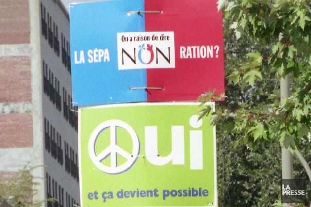 Le résultat du référendum de 1995 - 50,58%... (Archives La Presse)