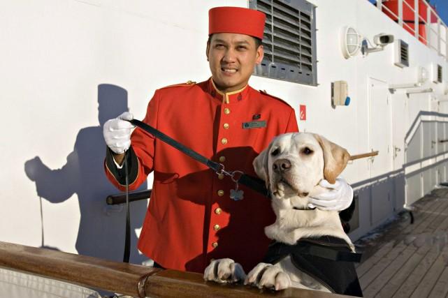 Les chiens ont admis bord du Queen Mary... (PHOTO FOURNIE PAR CUNARD)