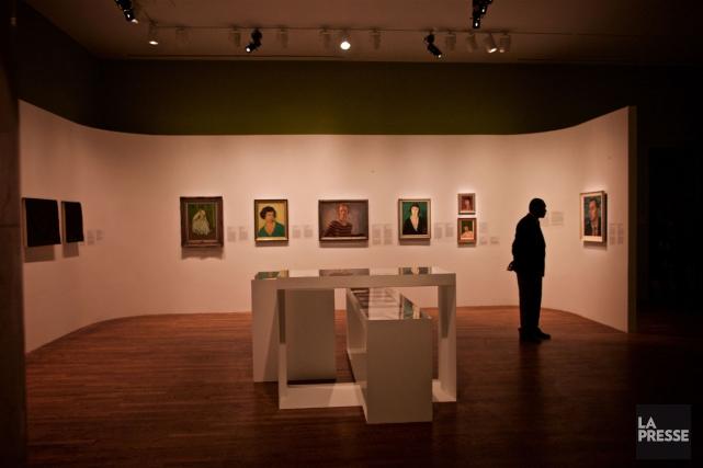 Dans la salle Sortir en ville, l'exposition Une... (PHOTO ANDRÉ PICHETTE, LA PRESSE)