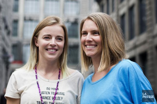 Josée-Anne Sarazin-Côté et Virginie Duval sont les fondatrices... (PHOTO OLIVIER JEAN, LA PRESSE)