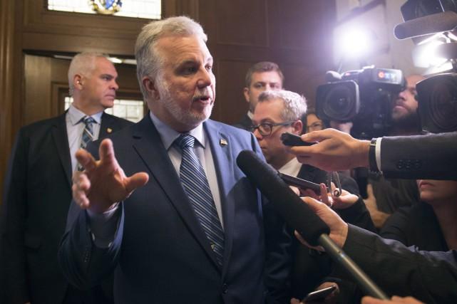 Le premier ministre Philippe Couillard rencontrera les chefs... (La Presse Canadienne)