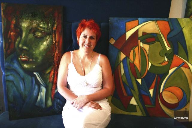 La présidente du Salon des arts des Bois-Francs,... (La Tribune, Yanick Poisson)
