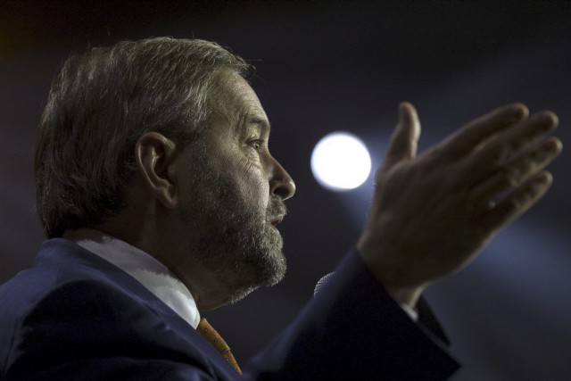 Thomas Mulcair est tout à fait disposé à... (PHOTO ARCHIVES REUTERS)