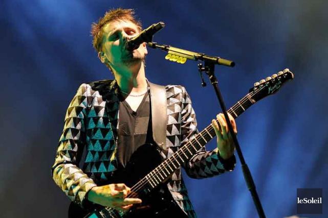 Muse, lors du spectacle au Colisée Pepsi, le... (Photothèque Le Soleil, Patrice Laroche)