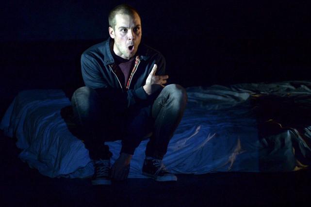 Lucien Ratio est excellent en Mark Rentondans Trainspotting.... (Le Soleil, Pascal Ratthé)