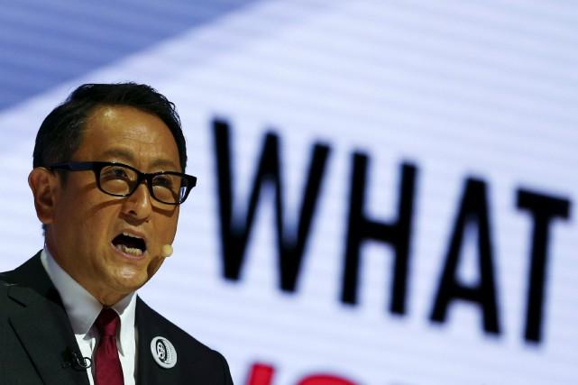 Akio Toyoda... (PHOTO THOMAS PETER, REUTERS)