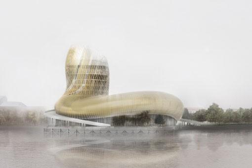 La Cité du vin, futur monument emblématique de Bordeaux à l'architecture... (CAPTURE D'ÉCRAN)