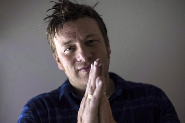 Jamie Oliver était à Toronto afin de promouvoir... (PHOTO ARCHIVES LA PRESSE CANADIENNE)