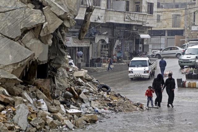 La ville d'Idreb est contrôlée par les rebelles.... (Photo Khalil Ashawi, Reuters)