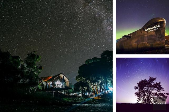 Merci aux photographes couche-tard et amateurs d'astronomie qui ont relevé... (Infographie Le Soleil)