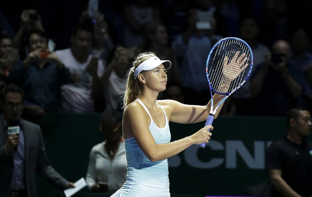 Sharapova a gagné contre Halep.... (Associated Press)