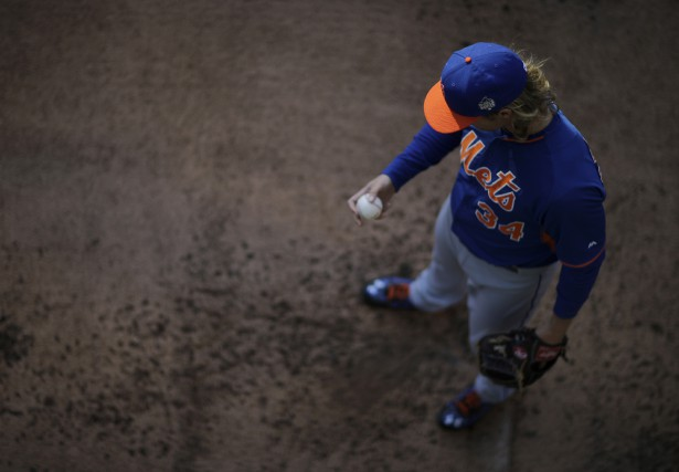 La balle rapide de Syndergaard a atteint en... (Photo Associated Press)