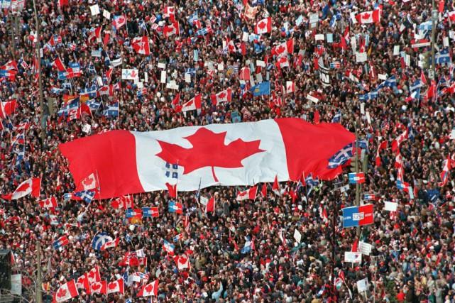 Un rassemblement pour l'unité canadienne a eu lieu... (Archives Presse Canadienne)