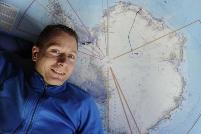 La traversée de l'Antarctique par Frédéric Dion il... (Sylvain Mayer)