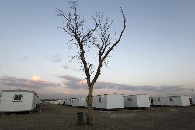 Le camp Liberty est une ancienne base américaine... (Photo Thaier al-Sudani, Reuters)