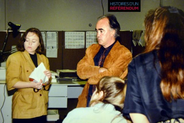 La journée de travail du 30 octobre 1995... (Courtoisie)