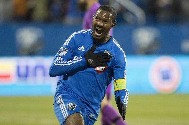 Patrice Bernier célèbreson premier but en MLS depuis... (La Presse Canadienne, Graham Hughes)