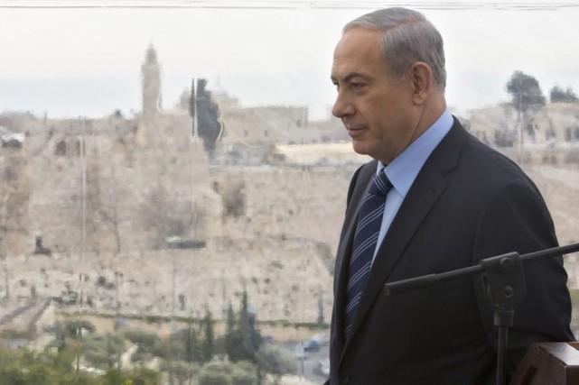 Le premier ministre israélien Benjamin Netanyahou... (Archives AP)