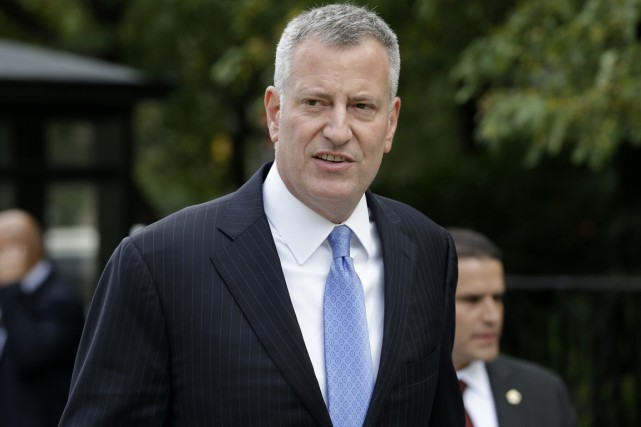 Le maire de New York Bill de Blasio.... (PHOTO SETH WENIG, ARCHIVES AP)