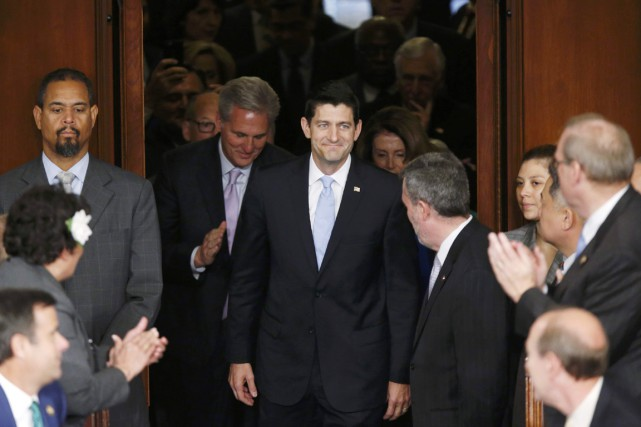 Le représentant républicain du Wisconsin Paul Ryan a... (PHOTO JONATHAN ERNST, REUTERS)