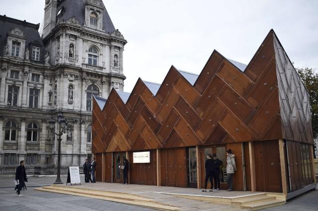Le Pavillon circulaire, une construction expérimentale faite de... (AFP, Stéphane de Sakutin)