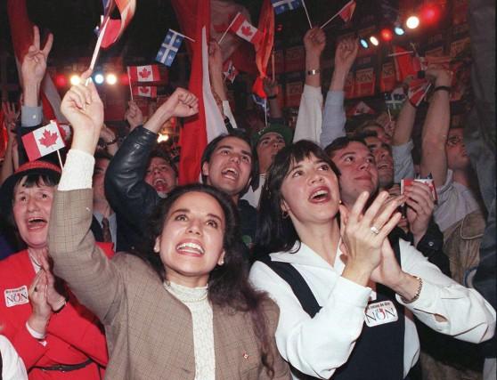Le camp fédéraliste a crié victoire en 1995,... (Archives La Presse Canadienne)