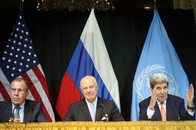 L'envoyé spécial de la Syrie Staffan de Mistura,... (Photo Ronald Zak, AP)