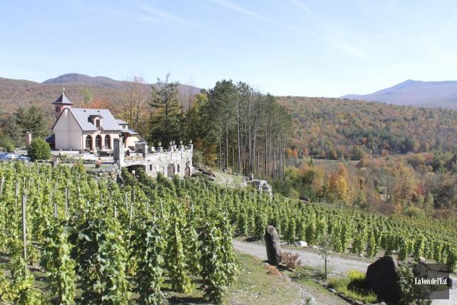 La fiche descriptive du vignoble présente la propriété... (photo Janick Marois, archives La Voix de l'Est)