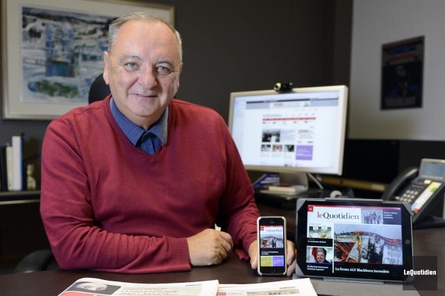 Michel Simard, président et éditeurLe Quotidien et Le... (Archives Le Quotidien)