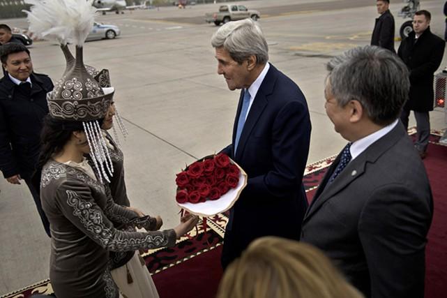 Le secrétaire d'État américain John Kerry a été... (Photo Brendan Smialowski, Pool Photo via AP)