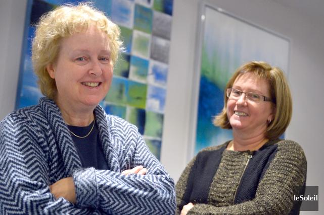 Brigitte Harrison et Lise Saint-Charles, fondatrices de l'organisme... (Le Soleil, Yan Doublet)