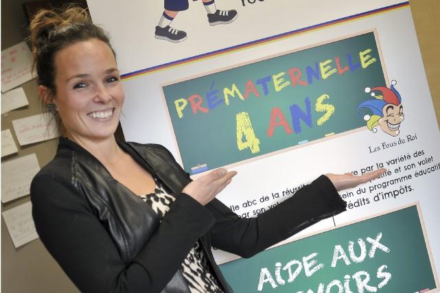 L'enseignante Marie-Pier Pedneault-Gagnon lance une nouvelle prématernelle dotée... (Photo Le Progrès-Dimanche, Rocket Lavoie)