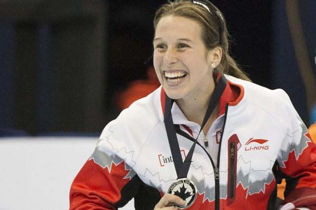 Marianne Saint-Gelais a mérité une première médaille, au... (Photo Presse canadienne)