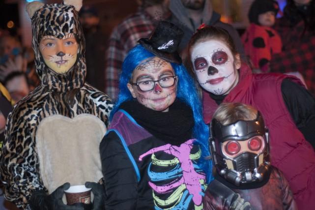 Plusieurs enfants ont passé l'Halloween dans la région... (Photo Le Progrès-Dimanche, Michel Tremblay)