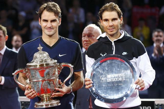 Roger Federer et Rafael Nadal... (Photo Arnd Wiegmann, Reuters)
