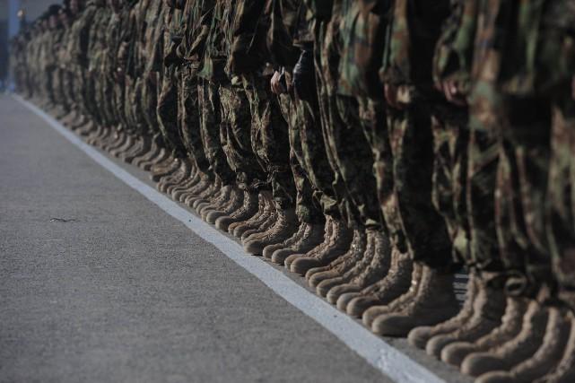 Un soldat américain a eu la mauvaise idée de se déguiser en kamikaze pour la... (PHOTO ARCHIVES AFP)