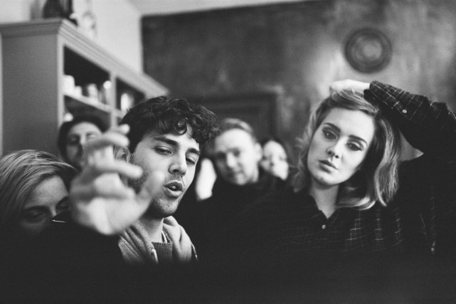Xavier Dolan et Adele... (PHOTO SHAYNE LAVERDIÈRE)
