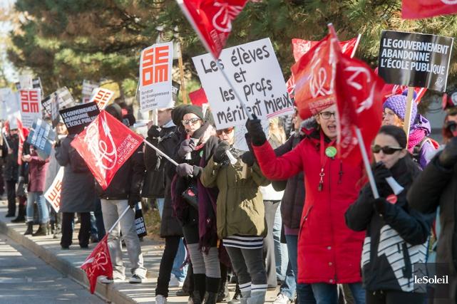Après la grève de nombreux groupes d'employés de... (Photothèque Le Soleil)