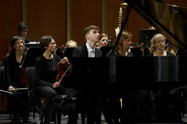Le jeune pianiste Antoine Rivard-Landry a livré une... (Andréanne Lemire)